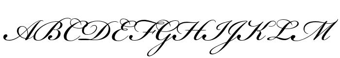 Bickham Script MM Font UPPERCASE