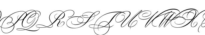 BickhamScriptMM SwCaps Font UPPERCASE