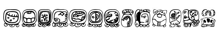 BienMaya Font UPPERCASE