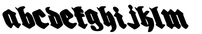 Bierg?rten Leftalic Font LOWERCASE
