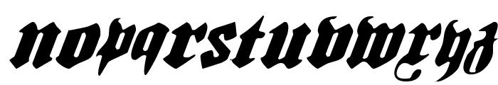 Bierg?rten Light Italic Font LOWERCASE