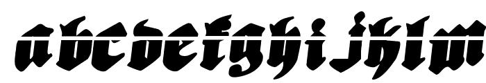 Bierg?rten Rotalic Laser Font UPPERCASE
