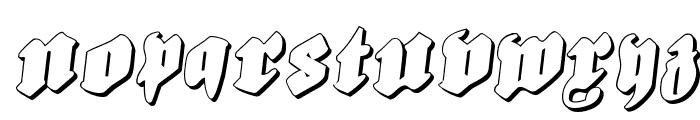 Bierg?rten Rotalic Shadow Font UPPERCASE