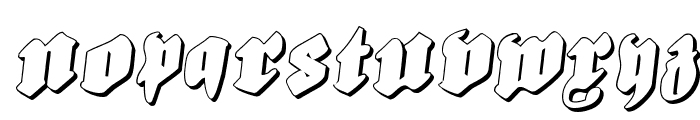 Bierg?rten Rotalic Shadow Font LOWERCASE