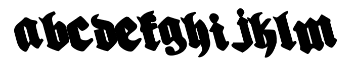Bierg?rten Rotate Font LOWERCASE