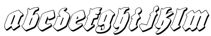 Bierg?rten Shadow Italic Font LOWERCASE
