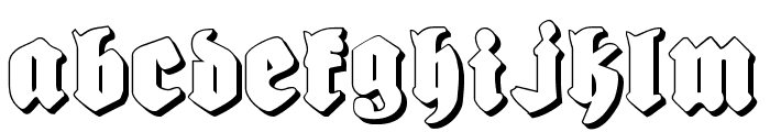 Bierg?rten Shadow Font UPPERCASE