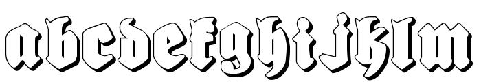 Bierg?rten Shadow Font LOWERCASE