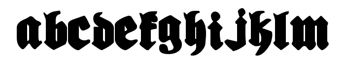 Bierg?rten Font LOWERCASE