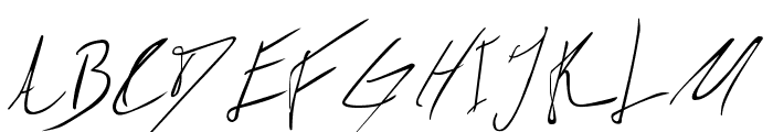 Biffe?s Calligraphy Font UPPERCASE