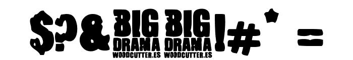 Big Drama Font OTHER CHARS