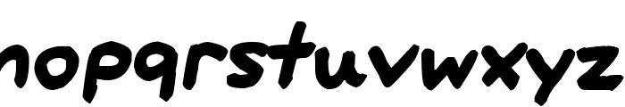 Big Fat Marker Font LOWERCASE