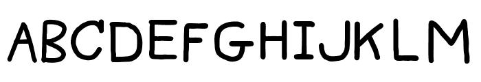 Big Fat Pencil 2 Font UPPERCASE