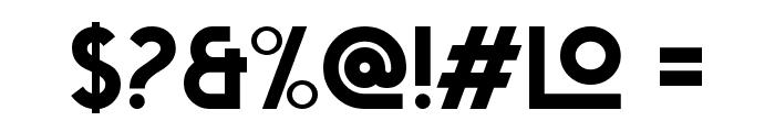 Big Orange Font OTHER CHARS