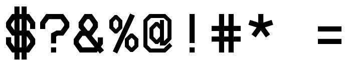 Big Pixel Demo Font OTHER CHARS