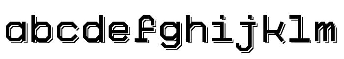 Big Pixel Shadowed Demo Font LOWERCASE