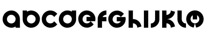 Big Poppa E Regular Font LOWERCASE