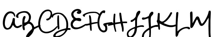 Big River Script Sample Font UPPERCASE