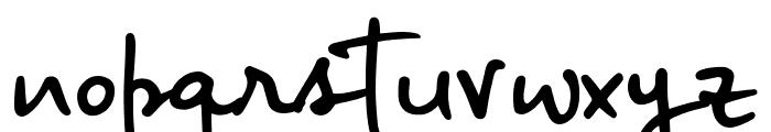 Big River Script Sample Font LOWERCASE