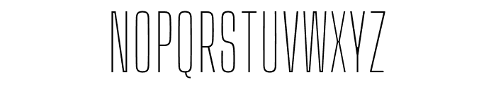 Big Shoulders Display Thin Font UPPERCASE
