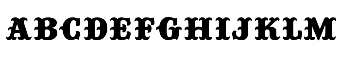 Big Top Font LOWERCASE