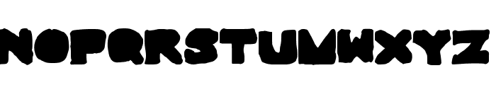 BigAndThick Font UPPERCASE