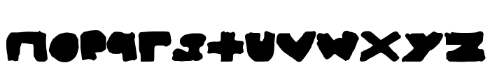 BigAndThick Font LOWERCASE