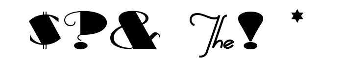 BigApple Font OTHER CHARS