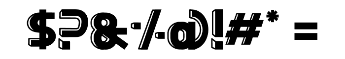 BigBOBY 3D Font OTHER CHARS