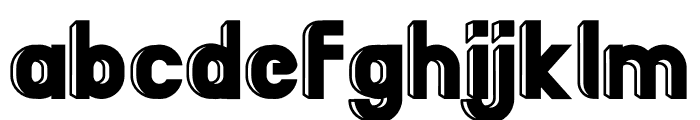 BigBOBY 3D Font LOWERCASE
