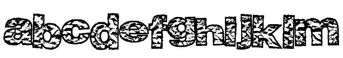 BigCrump Font LOWERCASE