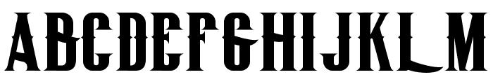BigLodgeTypeFree Font UPPERCASE