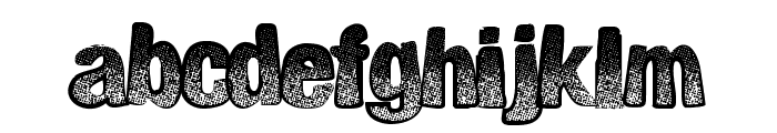 BigPrint Font LOWERCASE