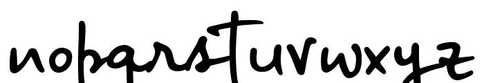 BigRiverScriptSample Font LOWERCASE