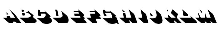 BigShadowsLeftOblique Font LOWERCASE