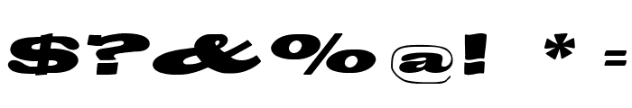 BigSwingingSlabS-Italic Font OTHER CHARS