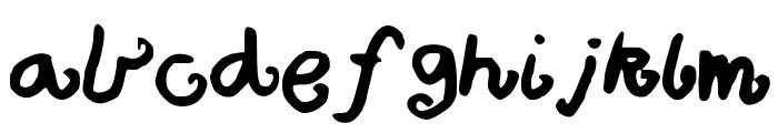 Bigcurls Font LOWERCASE