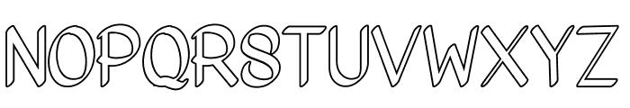Bigoutliner Font UPPERCASE