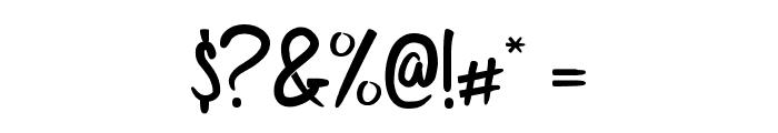 Bijak Script SemiBold Font OTHER CHARS