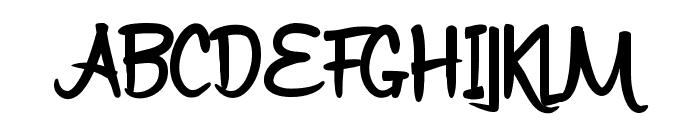 Bijak Script SemiBold Font UPPERCASE