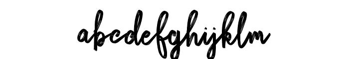 Bikarosta Script Font LOWERCASE