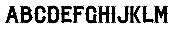 BikerfromHell Font LOWERCASE