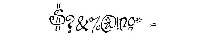 Bilbo-hand-Bold Bold Font OTHER CHARS