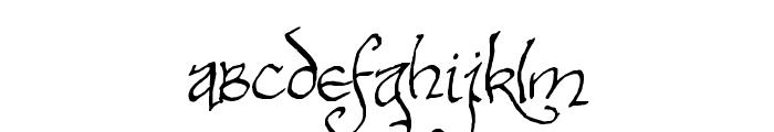 Bilbo-hand-Bold Bold Font LOWERCASE