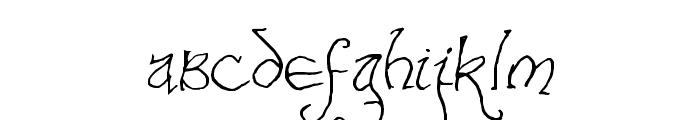 Bilbo-hand Regular Font LOWERCASE