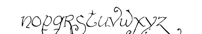 Bilbo-hand-fine Font LOWERCASE