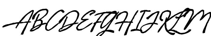 Billenia-Standard Font UPPERCASE
