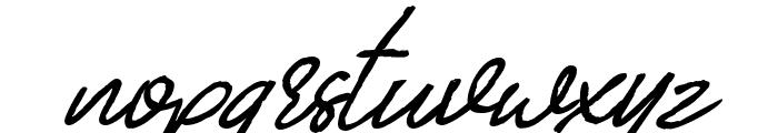 Billenia-Standard Font LOWERCASE