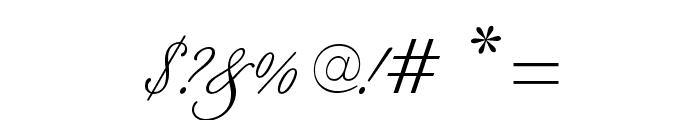 BilletScriptOpti Font OTHER CHARS