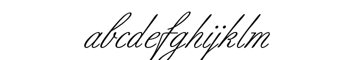 BilletScriptOpti Font LOWERCASE